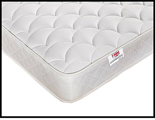 New Luxury Quilted 3ft Single 4ft Small Double 4ft6 Double 5ft King Size Medium Soft Mattress (Small Double 120x190cm)