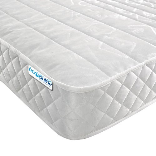 Bedzonline Micro Quilted Budget Mattress, Damask, Deep White, Single
