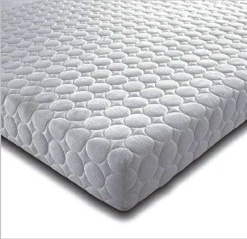 """Marcapiuma - Euro Double Memory Mattress 4 ft 8"""" 140x200 cm depth 22 cm - RAINBOW - Medium H2 Firmness MEDICAL DEVICE - 3 Layers Non-allergenic Breathable Removable ALOE Cover - 100% Made in Italy"""