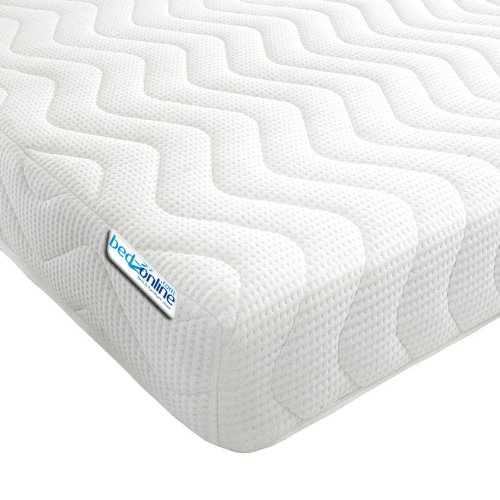 bedzonline Black Friday Memory Foam and Reflex 3 Zone Mattress with 2 Fibre Pillows Micro Quilted cool flex Cover, Double, 4 ft 6-inch, 135 x 190 cm