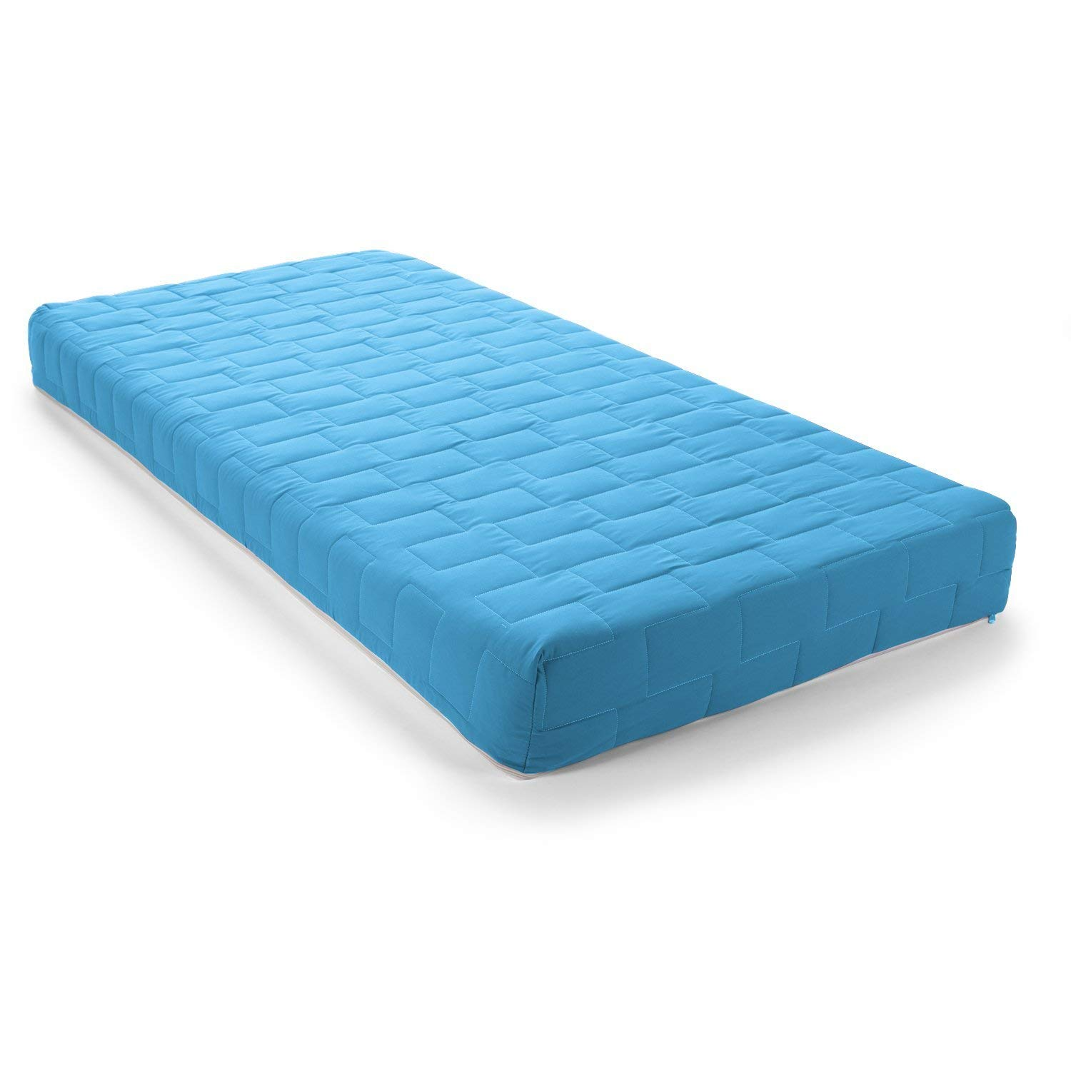 Visco Therapy Jazz Coil Spring Rolled Mattress Cover - Single, Light Blue
