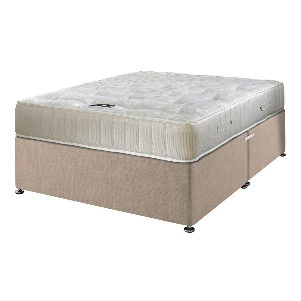 Happy Beds Divan Bed Set Ortho Royale Orthopaedic Mattress No Drawers 4'6'' Double 135 x 190 cm