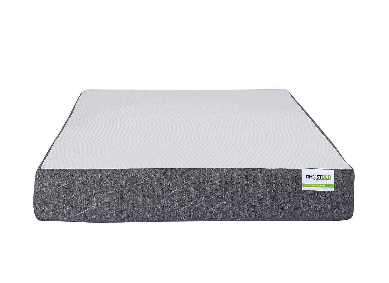 GhostBed Cooling Premium Gel Memory Foam Rolled Mattress, UK King, 27cm High, Made in the UK
