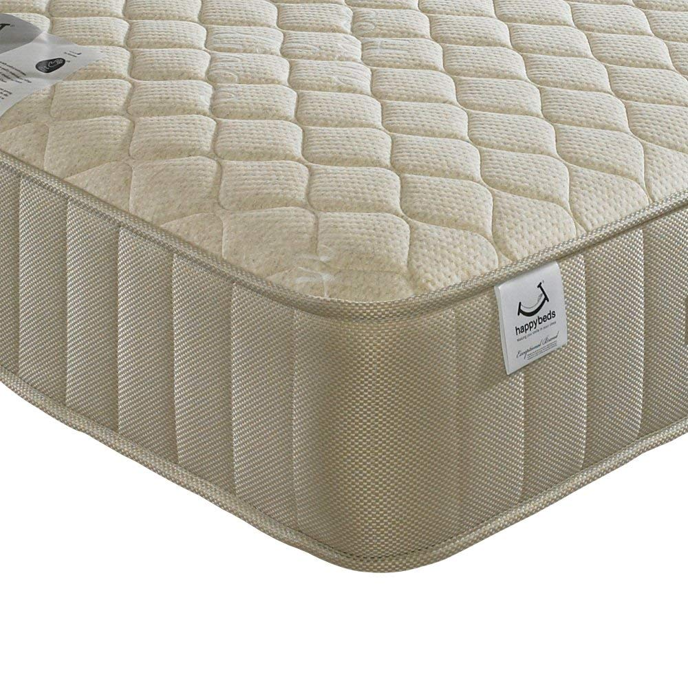 Quilted 800 Pocket Sprung, Happy Beds Eclipse Medium Soft Tension Mattress - 3ft Single (90 x 190 cm)