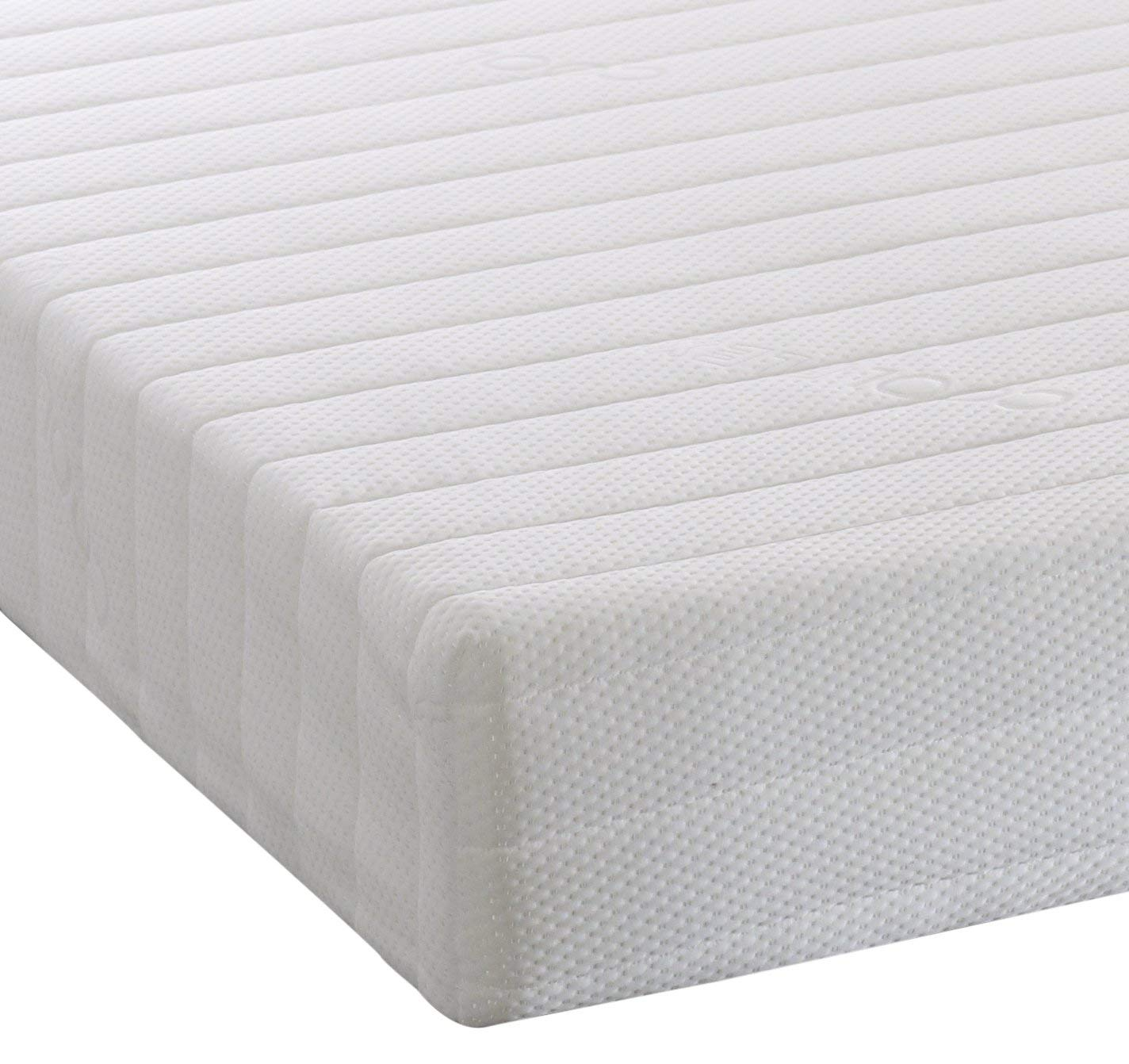Visco Therapy Memory Foam Reflex 5 Zone Rolled Mattress Quilted Cover Pillows - Super King