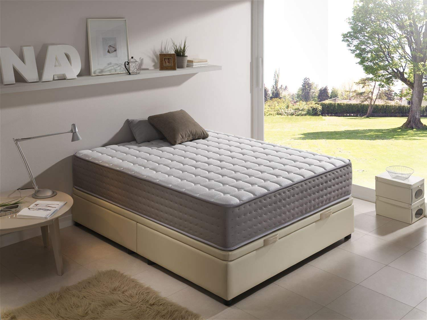 SIMPUR RELAX | BioPure Graphene Memory Foam Mattress Depth 30 cm | Free Pillow Memory Foam Promotion Included | 150x200 | Electro Biological.| Extra confort multi layer matress .| Graphene therapy with particles ability to absorb moisture and odors. |100% Quality- Satisfaction Warranty | Made 100% in EU | All standard sizes available.