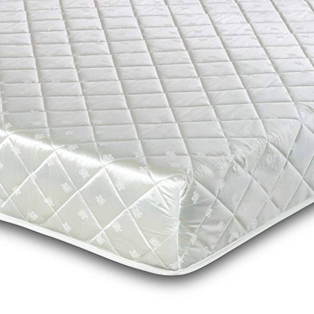 Visco Therapy Deluxe Memory Coil Rolled Mattress with Pillows, White, Double