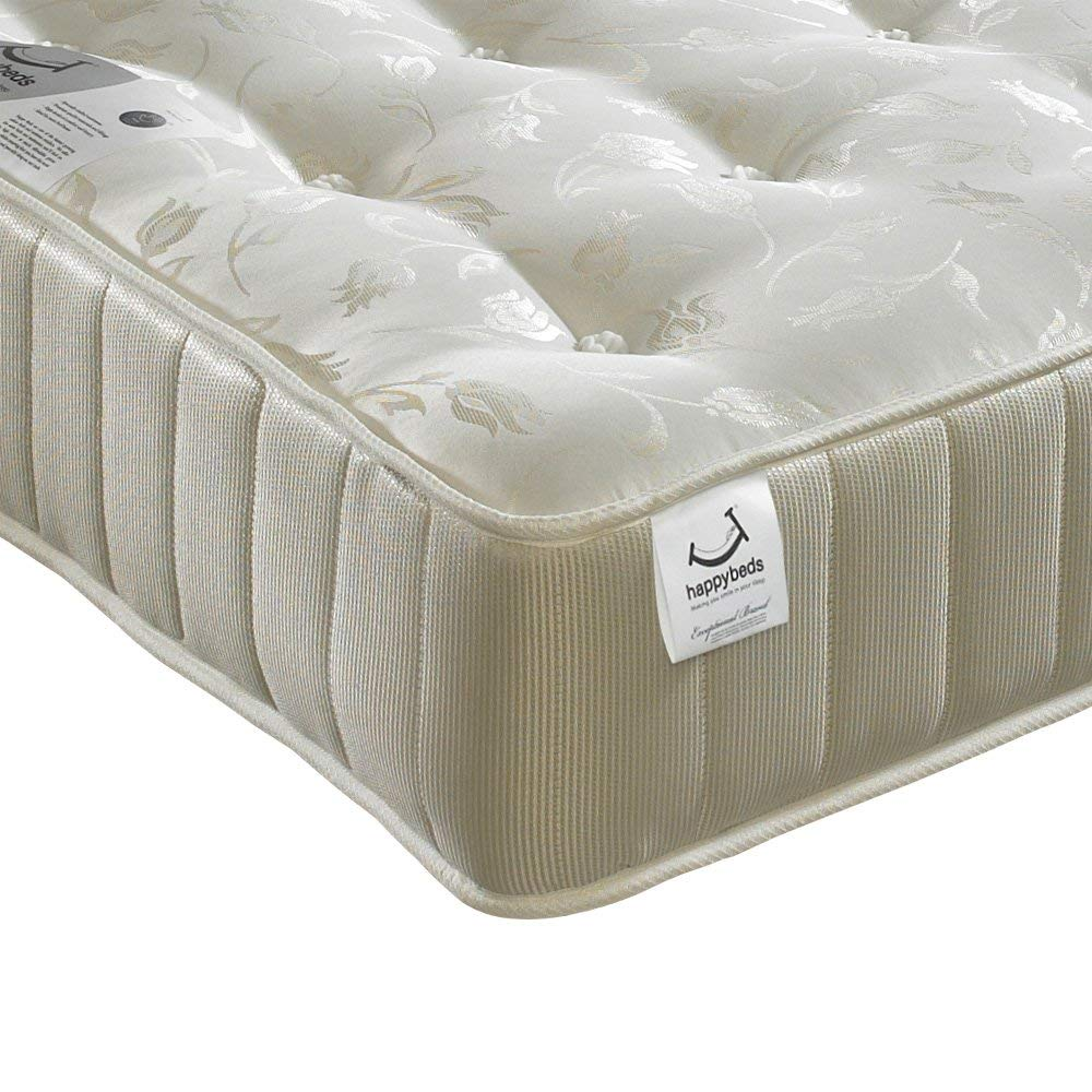 Orthopaedic Open Coil Spring, Happy Beds Ortho Royale Medium Firm Tension Mattress - 3ft Single (90 x 190 cm)