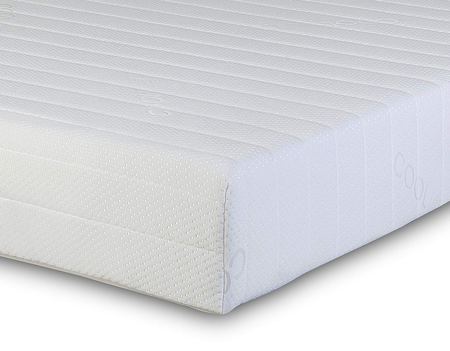 Visco Therapy Memory Foam Reflex 3 Zone Rolled Mattress Quilted Maxi-Cool Cover 2 Pillows – King