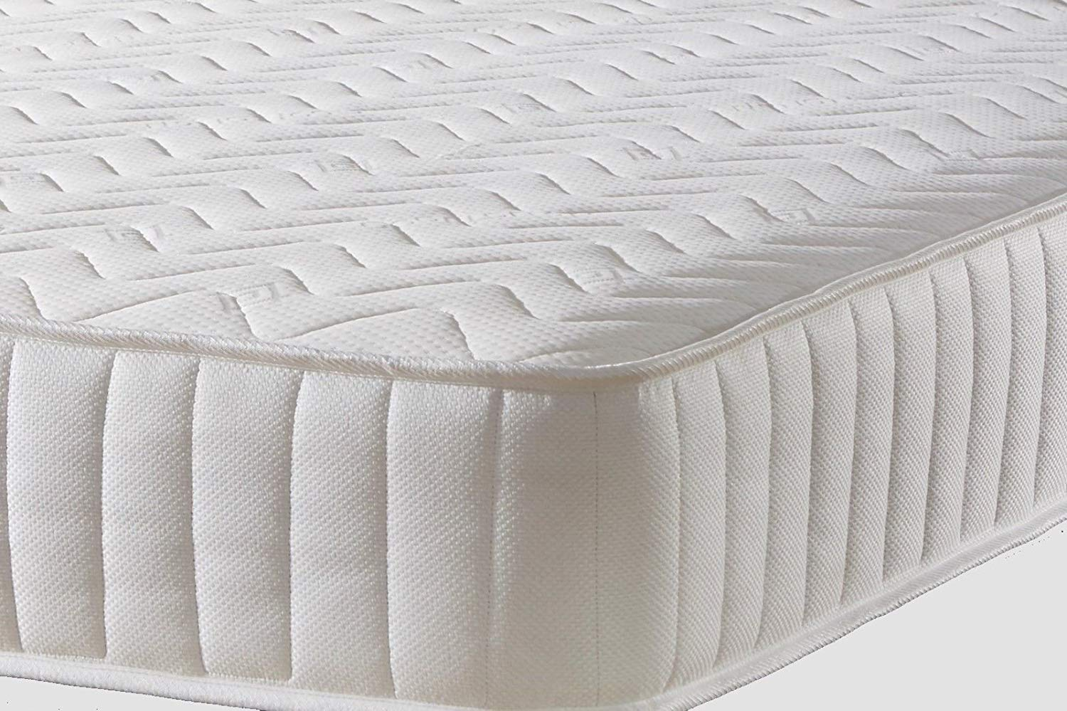 MR SLEEPS BEDS LIMITED Memory Foam Mattress Quilted Luxury with Springs Single 3ft (90cm) width 6FT3 (190CM)