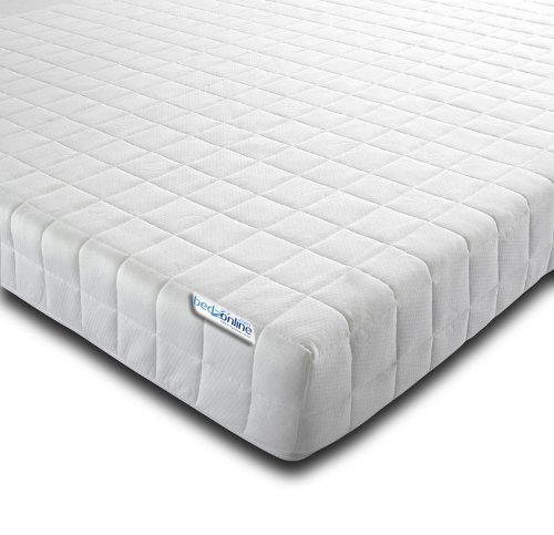 bedzonline Memory Foam and Reflex Zone Mattress with Micro Quilted Maxi-Cool Cover and 1 Fibre Pillows, 3 ft, 90 x 190 cm