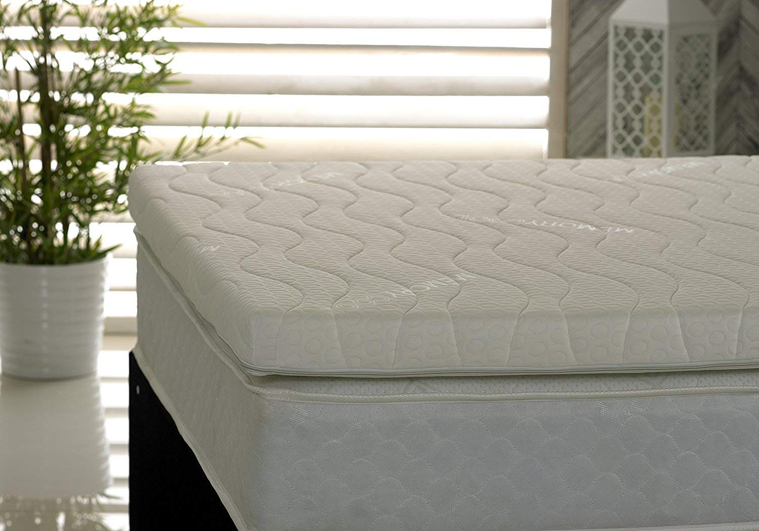 Visco Therapy Memory Foam Fibre Polyester-Cotton Mattress Topper with Luxury Cover - UK Small Single, 3-Inch