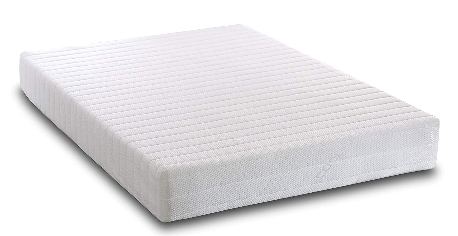 Visco Therapy 7 Zone Memory Foam and Reflex Rolled Mattress with Micro Quilted Cover, White, 4 feet (Small Double)